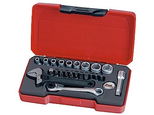 Teng Tools Pipenøkkelsett med ¼
