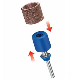 Dremel® EZ SpeedClic™: pussespindel og pussebånd