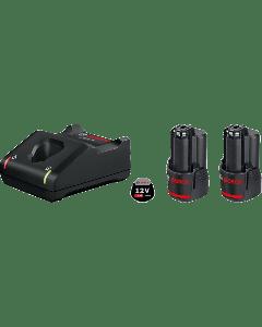 BOSCH Startsett 2 stk. GBA 12V 3.0Ah + GAL 12V-40 Professional