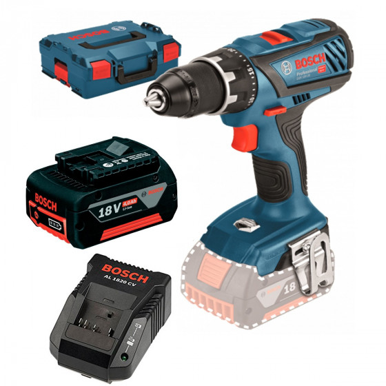 GSR 18V 28 Bosch Skrutrekker med 2 stk. 4,0Ah batterier og