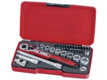 """Teng Tools pipenøkkelsett med 3/8"""" firkantfeste T3834 verktøy.no"""