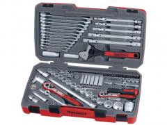 """Teng Tools pipenøkkelsett med 1/4"""" - 3/8"""" - 1/2"""" firkantfeste TM106 verktøy.no"""