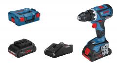 Bosch 18V Bor-/skrumaskin GSR 18 V-60 C i L-BOXX med 2 x ProCORE18V 4Ah batterier & hurtiglader