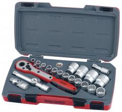 Teng Tools pipenøkkelsett (12 kant) T1221-P 21 Deler verktøy.no