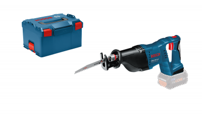 Bosch bajonettsag GSA 18 V-LI Solo I L-BOXX med 2 bajonettsagblader verktøy.no
