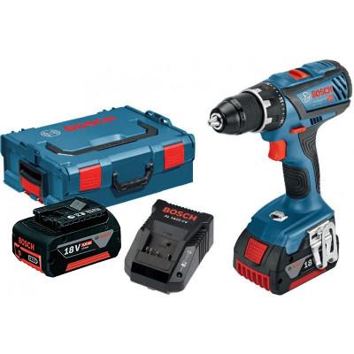 Bosch bor-/skrumaskin GSR 18V-28 Professional 2x5Ah verktøy.no