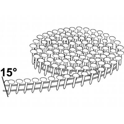 Rundbåndet pappspiker 15° 3,0x38mm FZV 1080stk
