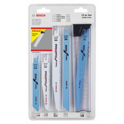 Bosch bajonettsagbladpakker for tre og metall, 12 deler verktøy.no
