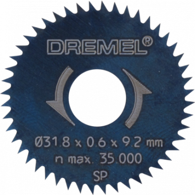 DREMEL LENGDE-/ TVERRKAPPEBLAD 31,8 MM (546)