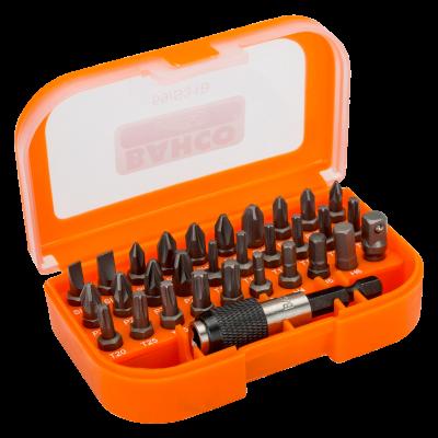 """BAHCO 1/4"""" bitssett for spor/Phillips/Pozidriv/TORX®/sekskantskruer – 31 deler 59/S31B"""