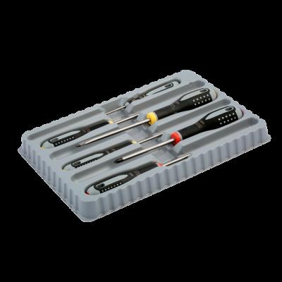 BAHCO ERGO™ skrutrekkersett for spor/Phillips-skruer med gummigrep - 6 stk BE-9881 Verktøy.no