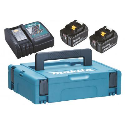 Makita batterisett LXT 18V 2 x 5Ah med batterilader og Makpac koffert