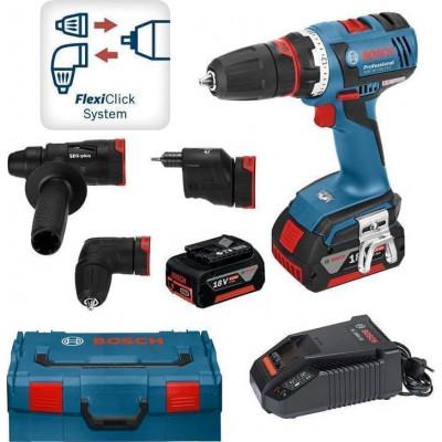Bosch Skrumaskin GSR 18 V-EC FC2 Professional med 5 i 1 FlexiClick-system