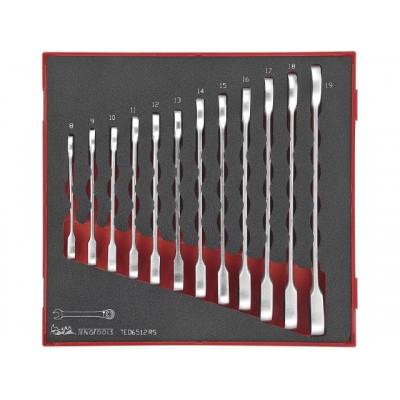 Teng Tools 12 deler kombinasjonsskrallenøkkelsett TED6512RS