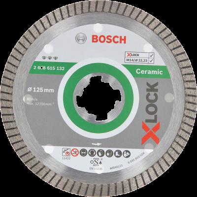Bosch X-LOCK Best for Ceramic Extra Clean Turbo diamantkappskiver 125mm