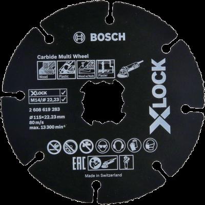 Bosch X-LOCK Carbide Multi Wheel-kappeskive 115