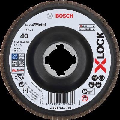 Bosch X-LOCK-lamellslipeskive X571 Best for Metal Verktøy.no