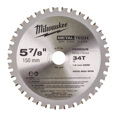 Milwaukee Metallsagblad 150 x 20 34T