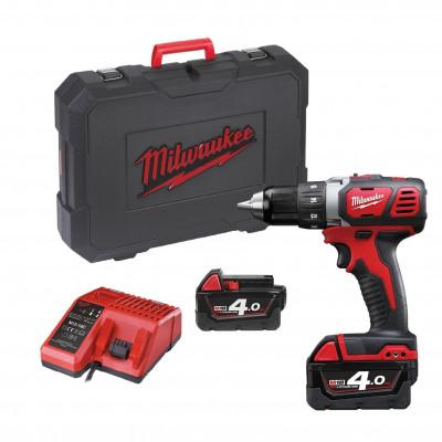 Milwaukee 18V bor-/skrutrekker M18 BDD-402C I koffert med 2 x 18V 4Ah batterier & lader verktøy.no
