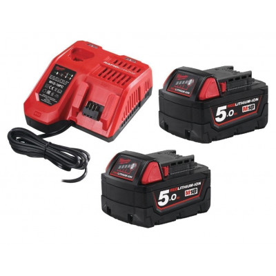 Milwaukee M18 Batterisett NRG-502 2x5Ah