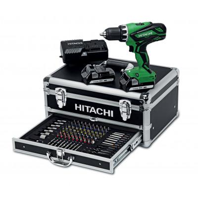 Hitachi Batteriverktøypakke 18V m/borskrutrekker DS 18DJL og aluminiumskasse (m/100 bits/bor)