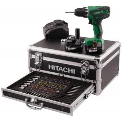 Hitachi Verktøypakke 10,8V m/borskrutrekker DS 10DAL og aluminiumskoffert (m/100 bor/bits)