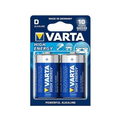 VARTA BATTERI HIGHENERGY LR20/ 4920 / D 1,5V 2-PK
