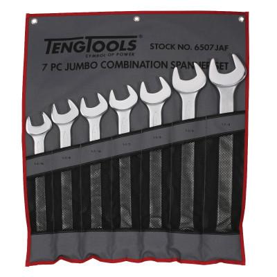 TengTools 7 deler tomme mål Kombinasjonsnøkkelsett i verktøyfutteral 6507JAF