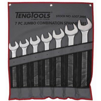 TengTools 7 deler tomme mål Kombinasjonsnøkkelsett i verktøyfutteral 6507JMM