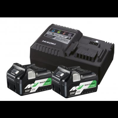 HIKOKI Batteripakke 36V MULTI VOLT 2XBSL36A18 + UC18YSL3 verktøy.no