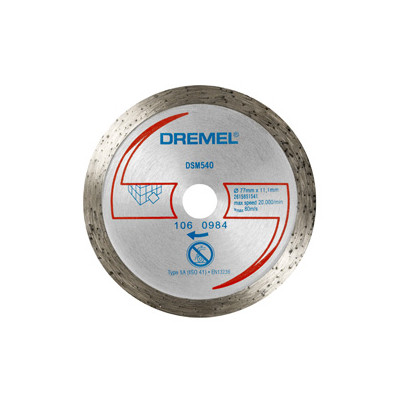 DREMEL® DSM20 DIAMANT FLISKUTTESKIVE (DSM540)