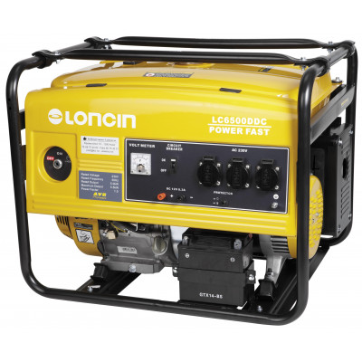 Loncin strømaggregat 1-fas LC6500DDC verktøy.no
