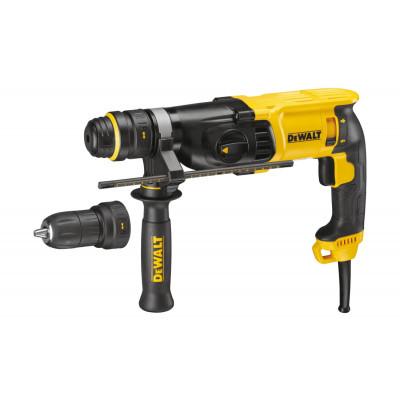 DeWalt Bor-/Hammer SDS-Plus 26 mm 3 funksjoner i koffert QCC D25134K Verktøy.no
