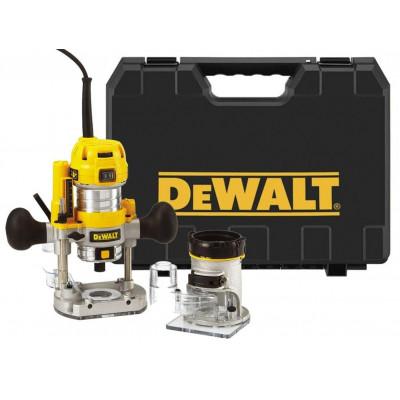 DeWalt kombifres D26204K 900W, 8 mm DeWalt håndoverfres 900W 8mm (kant-/håndfres) verktøy.no