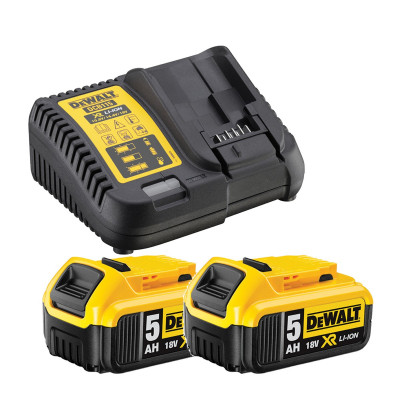 DeWalt DCB115P2 Batterier og lader XR 18V 5,0Ah verktøy.no
