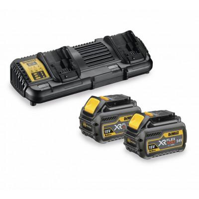 DeWalt Batterisett med dobbel lader og 2 x XR Flexvolt 18V/54V 6Ah batterier  Verktøy.no