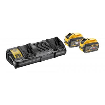 DeWalt Batterisett med dobbel lader og 2 x XR Flexvolt 18V/54V 9Ah batterier