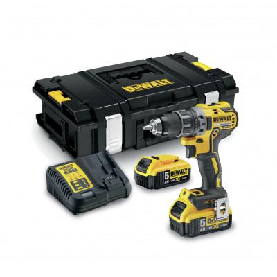 DeWalt 18V XR bor-/skrutrekker i TSTAK koffert med 2 x 5Ah batteri & lader DCD791P2 verktøy.no