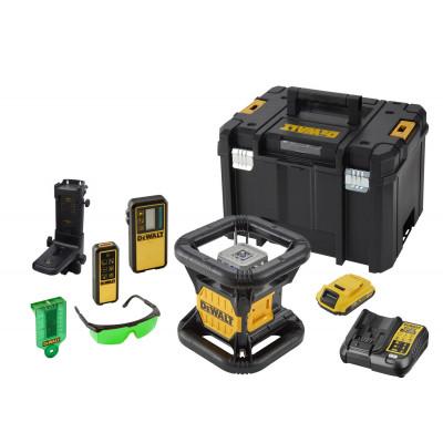 DeWalt 18V Rotasjonslaser Grønn DCE079D1G i koffert med tilbehør & batteri og lader Verktøy.no