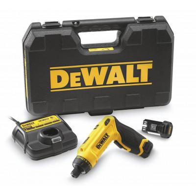 DeWalt 7,2V Bevegelseaktivert Skrutrekker DCF680G2 i koffert med 2 x 7,2V 1,0Ah batterier & lader Verktøy.no