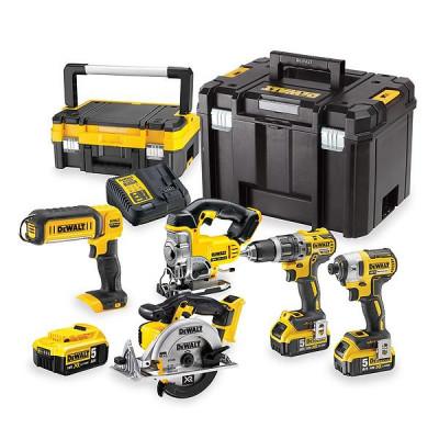 DeWalt verktøypakke 5pak 18V maskiner DCK551P3T verktøy.no