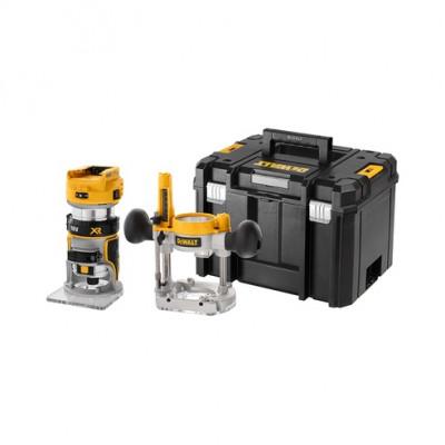 DeWalt 18V XR håndoverfres 8mm (¼″) - naken i TSTAK-koffert verktøy.no