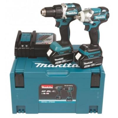 Makita ComboKit DLX2184TJ - To batterimaskiner i koffert verktøy.no