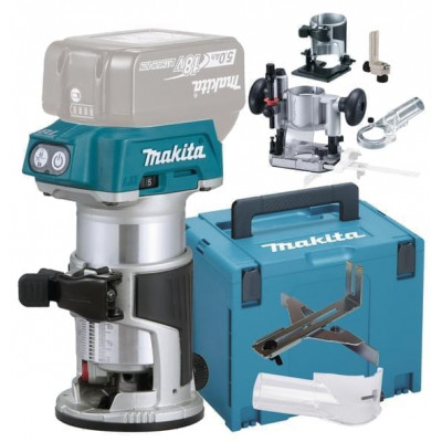 Makita overfres 18V med tilbehør DRT50ZJX5 verktøy.no