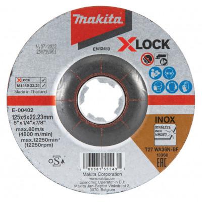 Makita Slipeskive 125X6 X-LOCK E-00402