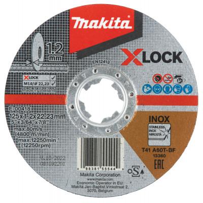Makita Kappeskive 125X1,25 X-LOCK E-00418