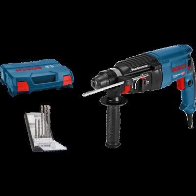 Bosch Borhammer GBH 2-26 SDS PLUS i oppbevaringskoffert med SDS PLUS borsett