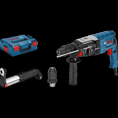 Bosch Borhammer GBH 2-28 SDS plus i L-BOXX med tilbehørssett & avsugssett