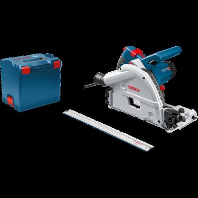 Bosch dykksag GKT 55 GCE med styreskinne FSN 1600 i L-BOXX verktøy.no