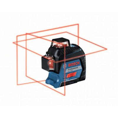 Bosch Linjelaser GLL 3-80 i koffert med 4 batterier (AA), tilbehørssett
